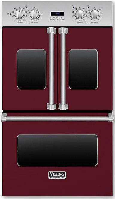 """Viking 30"""" Professional 7 Series Burgandy Electric Double..."""