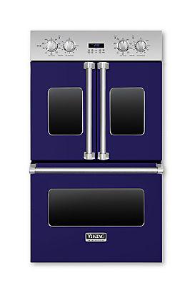 "Viking 30"" Cobalt Blue Electric Double French Door Oven"