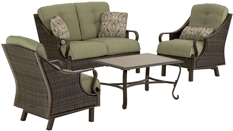 Hanover Ventura 4-Piece Outdoor Seating Patio Set