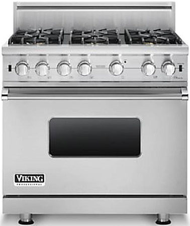 Viking Professional 5 Series Vgcc5366bss 36 Natural Gas Range With 6 Sealed Burners Vsh Pro