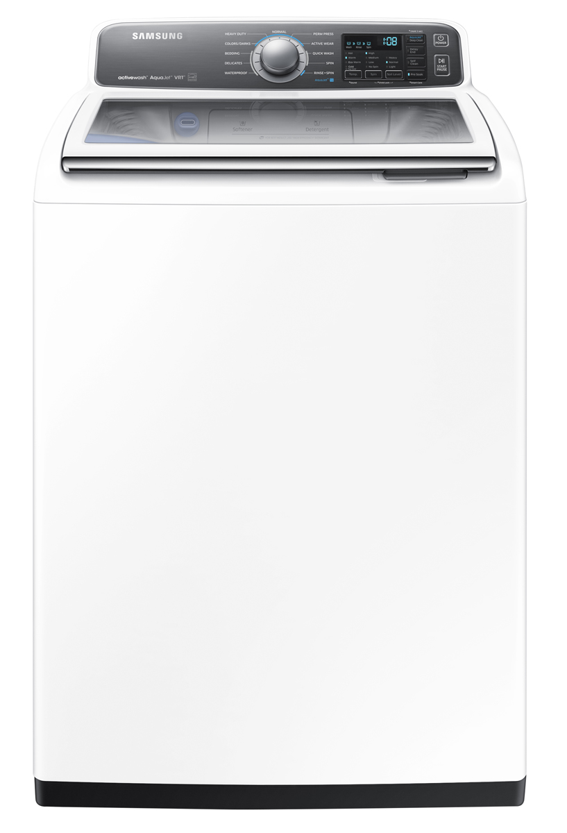 Samsung 4.8 cu. ft. High-Efficiency Top Load Washer with Activewash in White, Energy Star