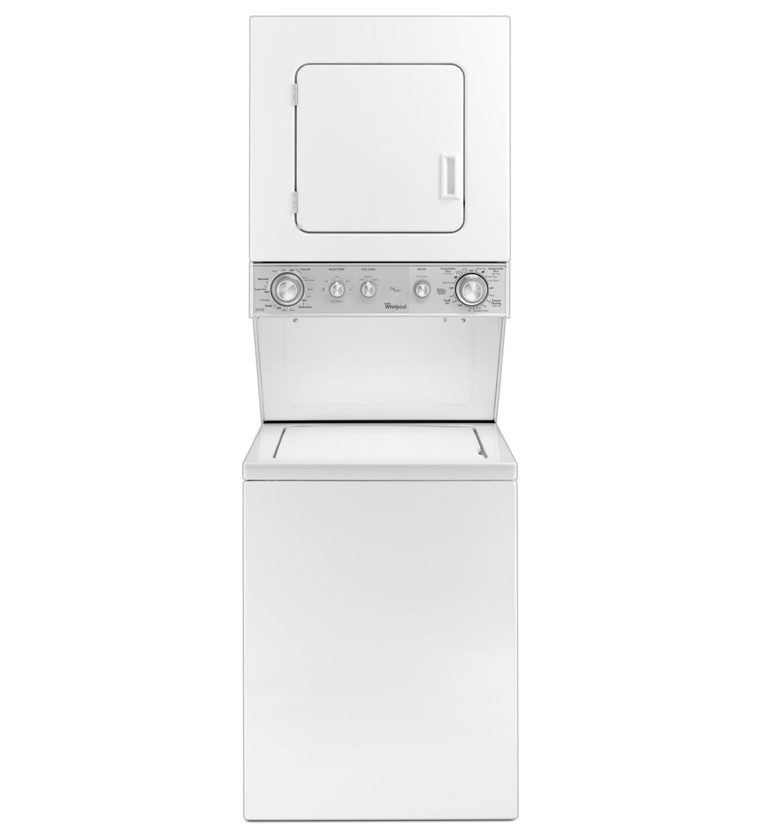 """Whirlpool 24"""" Stacked White Washer And Electric Dryer"""