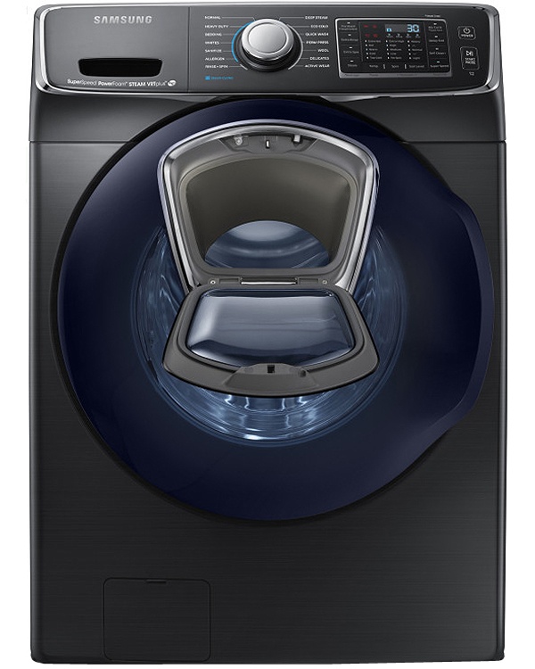 Samsung Black Stainless Steel Front Load Steam Washer