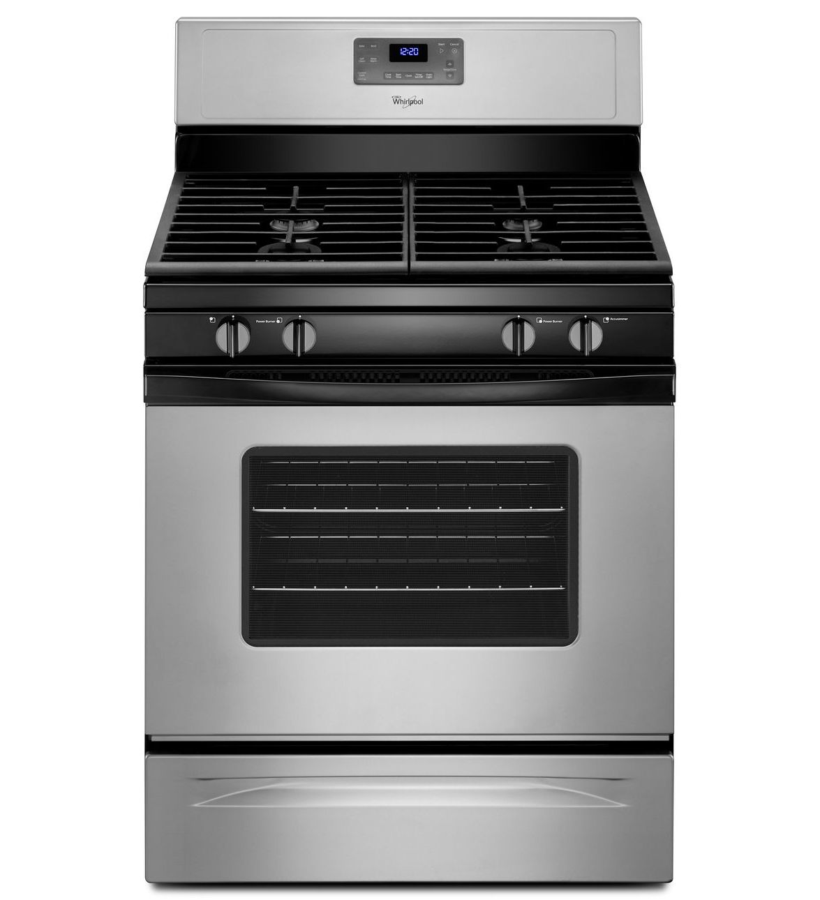Whirlpool 5.0 cu. ft. Gas Range with Self-Cleaning Oven in Silver