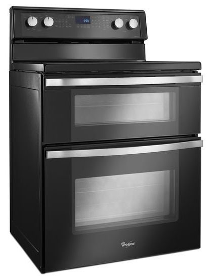 Whirlpool Black Double Oven Electric Range