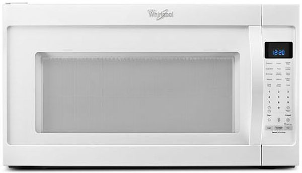 Whirlpool White 2.0 Cu. Ft. Over-The-Range Microwave Hood...