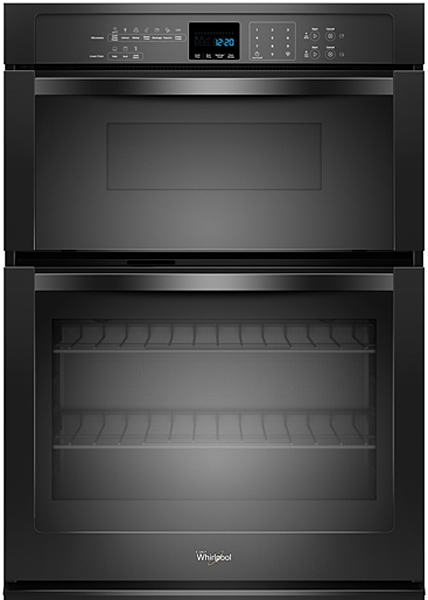 """Whirlpool 27"""" Black Combination Microwave Electric Wall Oven"""
