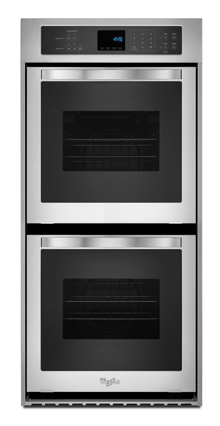 """Whirlpool 24"""" Stainless Steel Electric Double Wall Oven"""