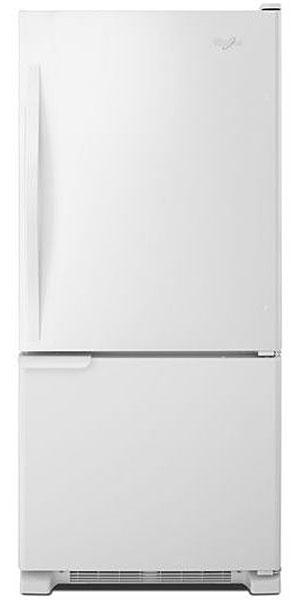 Whirlpool White Bottom-Freezer Refrigerator