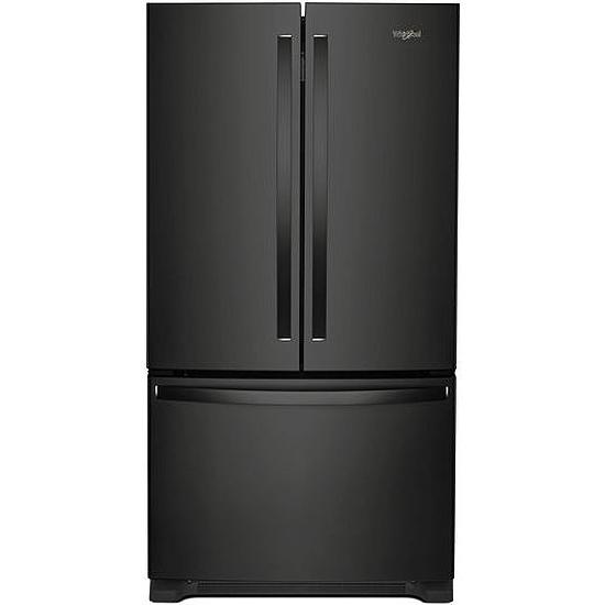 Whirlpool 36 Quot Black French Door Refrigerator Wrf540cwhb