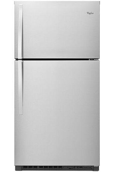 Whirlpool Monochromatic Stainless Steel Top-Freezer Refri...
