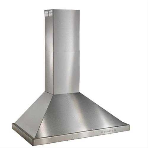 """Best 30"""" Brushed Stainless Steel Wall Mount Chimney Hood"""