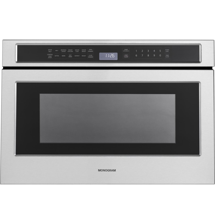 Ge Monogram Stainless Drawer Microwave Zwl1126sjss
