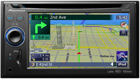 Pioneer AVIC-F710BT GPS Navigation Windows