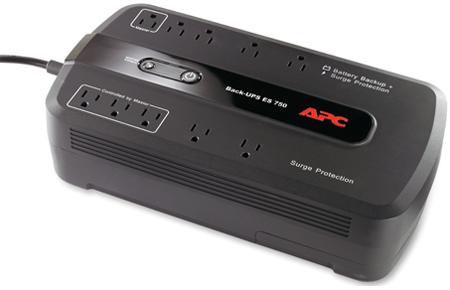 APC Power Saving Back-UPS ES 750VA Black Surge Protector - BE750G