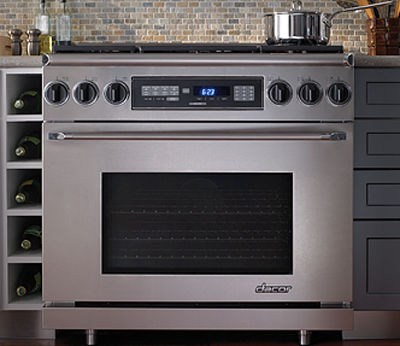 """Dacor 36"""" Dual-Fuel Stainless Steel Range"""