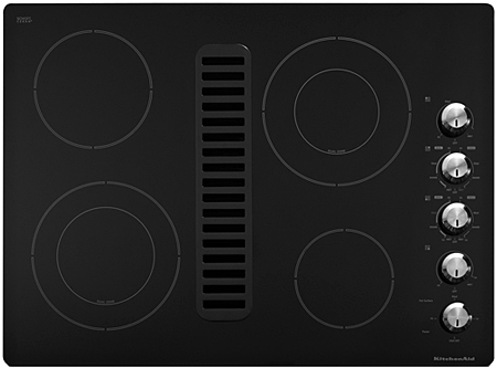 "Whirlpool KitchenAid 30"" Black Electric Cooktop"