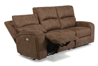 Flexsteel Rhapsody Fabric Power Reclining Sofa With Power Headrests
