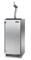 """Perlick Signature Series Adara 15"""" Solid Stainless Steel Door Right Hinged Indoor Beer Dispenser"""