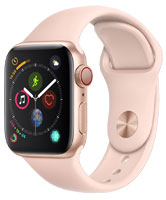 Apple Watch Series 4 GPS & Cellular 40mm Gold Aluminum Case With Pink Sand Sport Band