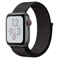Apple Watch Nike+ Series 4 GPS & Cellular 40mm Space Gray Aluminum Case with Black Nike Sport Loop