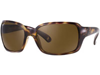RayBan Havana Crystal Cat Eye Brown Polarized Womens Sunglasses
