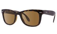 Ray-Ban Folding Wayfarer Tortoise Unisex Sunglasses