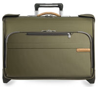 Briggs & Riley Olive Carry-On Wheeled Garment Bag
