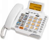 ClearSounds Amplified Freedom White Corded Phone - CSC1000