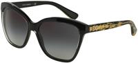 Dolce & Gabbana DNA Gold Leaf Black Square Womens Sunglasses