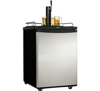 Danby 5.8 Cu Ft Black And Stainless Steel Beer Keg Cooler