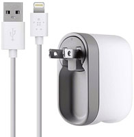 Belkin Swivel Charger + Lightning ChargeSync Cable - F8J032TT04WHT