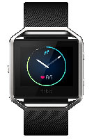 Fitbit Blaze Large Black And Silver Fitness Watch