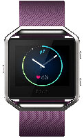 Fitbit Blaze Large Plum And Silver Fitness Watch