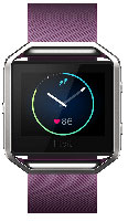 Fitbit Blaze Small Plum And Silver Fitness Watch
