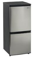 Avanti Stainless Steel Bottom Mount Compact Refrigerator