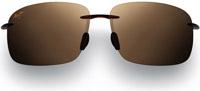 Maui Jim Breakwall Rootbeer Rimless Mens Sunglasses