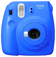 Fujifilm Instax Mini 9 Cobalt Blue Instant Film Camera