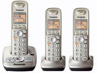 Panasonic Expandable Digital Cordless Answering System With 3 Handsets - KX-TG4223N