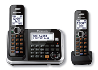 Panasonic Expandable Black Digital Cordless Answering System With 2 Handsets - KX-TG6842B