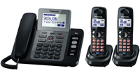 Panasonic Black 2 Line Expandable Digital Answering System - KX-TG9472B