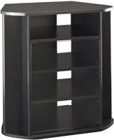 Bush Furniture Visions Tall Black Corner TV Stand