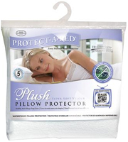 Protect-A-Bed Queen Size Plush Pillow Protector
