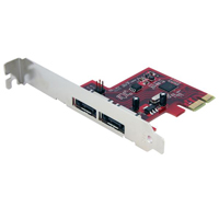 StarTech 2 Port SATA 6 Gbps PCI Express eSATA Controller Card