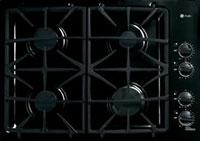 "GE Profile 30"" Black Built-In Gas Cooktop"