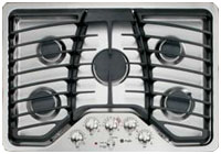 """GE Profile 30"""" Stainless Gas Cooktop"""