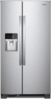 Whirlpool Fingerprint Resistant Stainless Steel Side-By-Side Refrigerator -  WRS321SDHZ