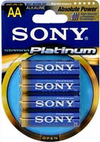 Sony AA 4 Pack Stamina Platinum Alkaline Batteries - AM3PTB4A