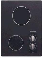 "Whirlpool KitchenAid 15"" Electric Cooktop Black"