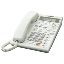 Panasonic 2-Line Integrated Phone System - White Finish - KX-TS3282W